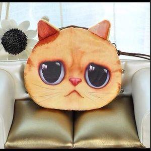 Wide eyed kitty change purse.